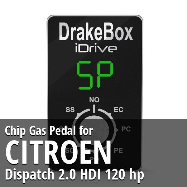 Chip Citroen Dispatch 2.0 HDI 120 hp Gas Pedal