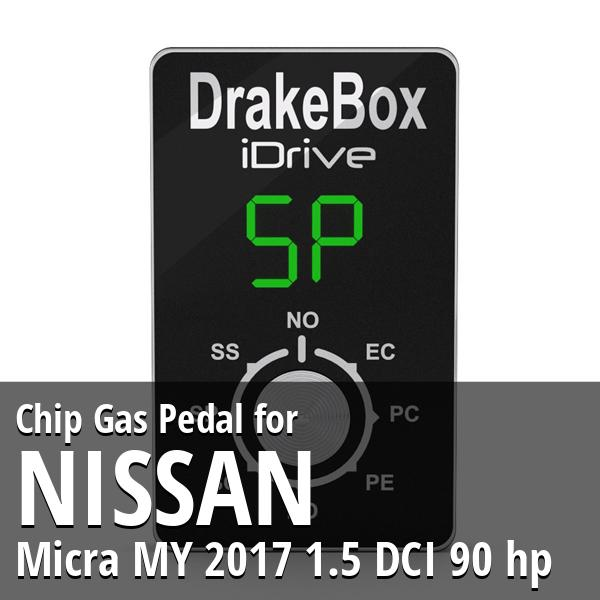 Chip Nissan Micra MY 2017 1.5 DCI 90 hp Gas Pedal