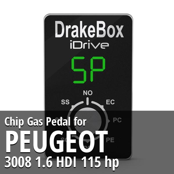 Chip Peugeot 3008 1.6 HDI 115 hp Gas Pedal