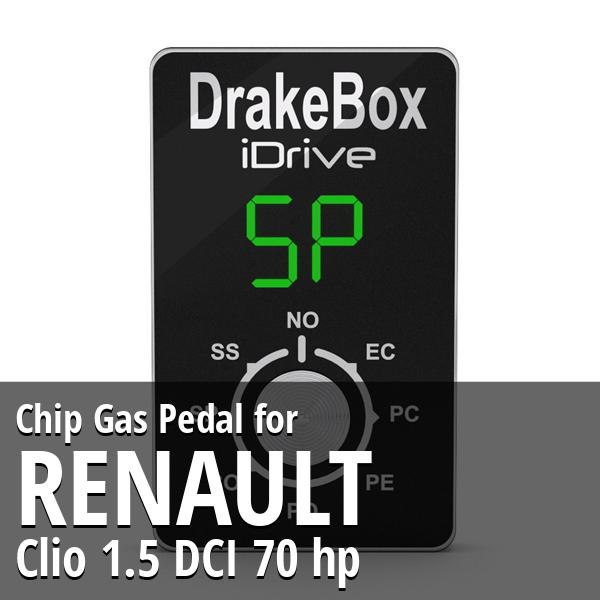 Chip Renault Clio 1.5 DCI 70 hp Gas Pedal