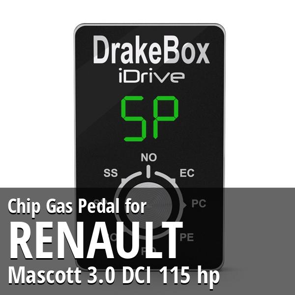 Chip Renault Mascott 3.0 DCI 115 hp Gas Pedal