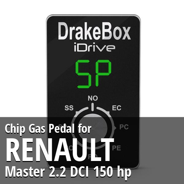 Chip Renault Master 2.2 DCI 150 hp Gas Pedal