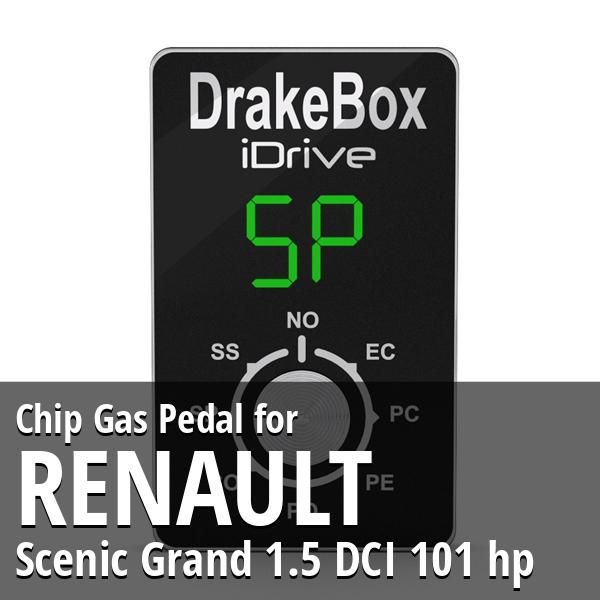 Chip Renault Scenic Grand 1.5 DCI 101 hp Gas Pedal