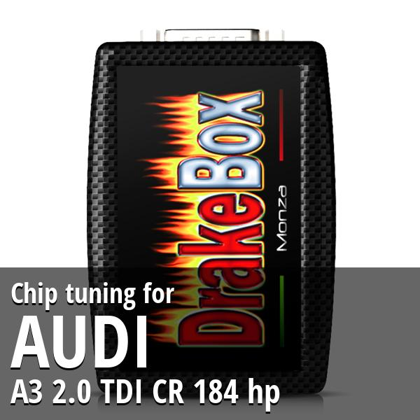 Chip tuning Audi A3 2.0 TDI CR 184 hp