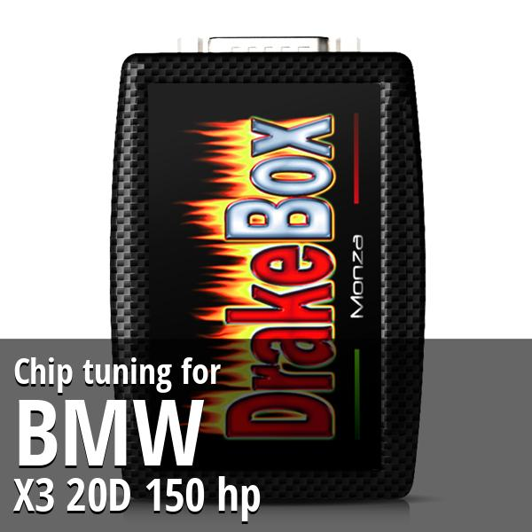 Chip tuning Bmw X3 20D 150 hp