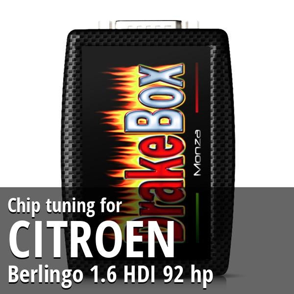 Chip tuning Citroen Berlingo 1.6 HDI 92 hp