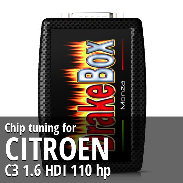 Chip tuning Citroen C3 1.6 HDI 110 hp