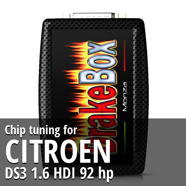 Chip tuning Citroen DS3 1.6 HDI 92 hp