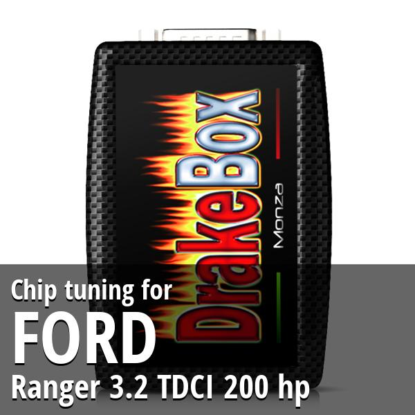 Chip tuning Ford Ranger 3.2 TDCI 200 hp