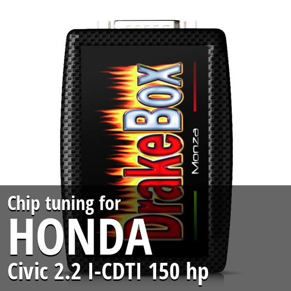 Chip tuning Honda Civic 2.2 I-CDTI 150 hp