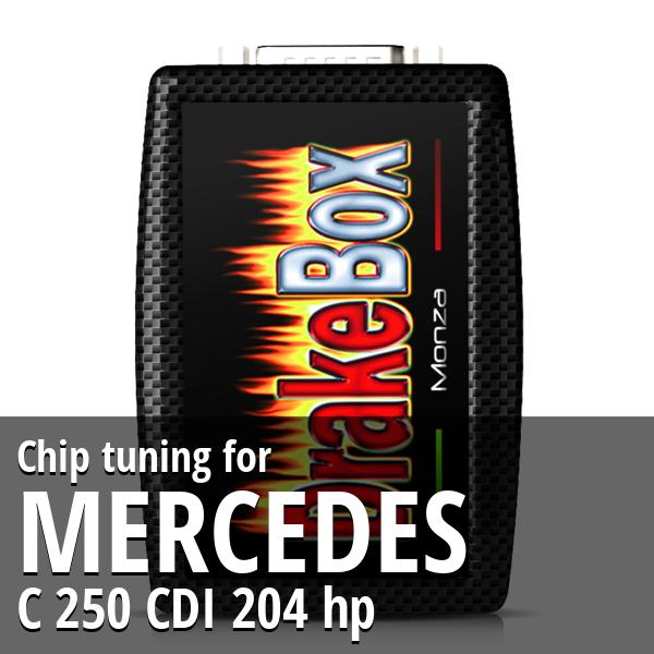 Chip tuning Mercedes C 250 CDI 204 hp