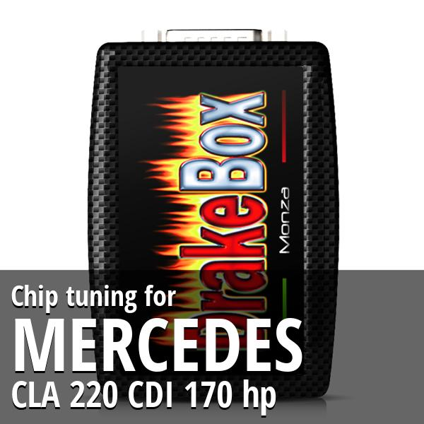 Chip tuning Mercedes CLA 220 CDI 170 hp